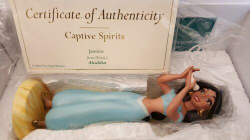 WDCC DISNEY ALADDIN JASMINE CAPTIVE SPIRITS + COA + ORIG BOX RARE 1232519