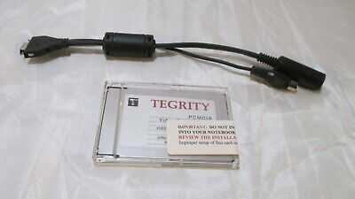 Tegrity PCMCIA Video Capture Card With AMP S-Video RCA Adapter Cable MV9MS80100