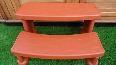 COVER VALET SPA SIDE STEP RED WOOD