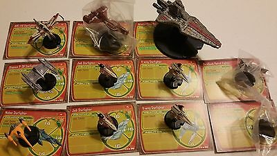 Star Wars Miniatures Starship Battles Large Republic  Fleet 11 Ships