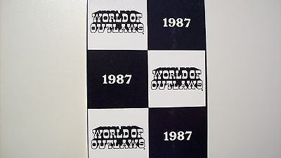 1987 World Of Outlaws card set w/Jeff Gordon's 1st card made