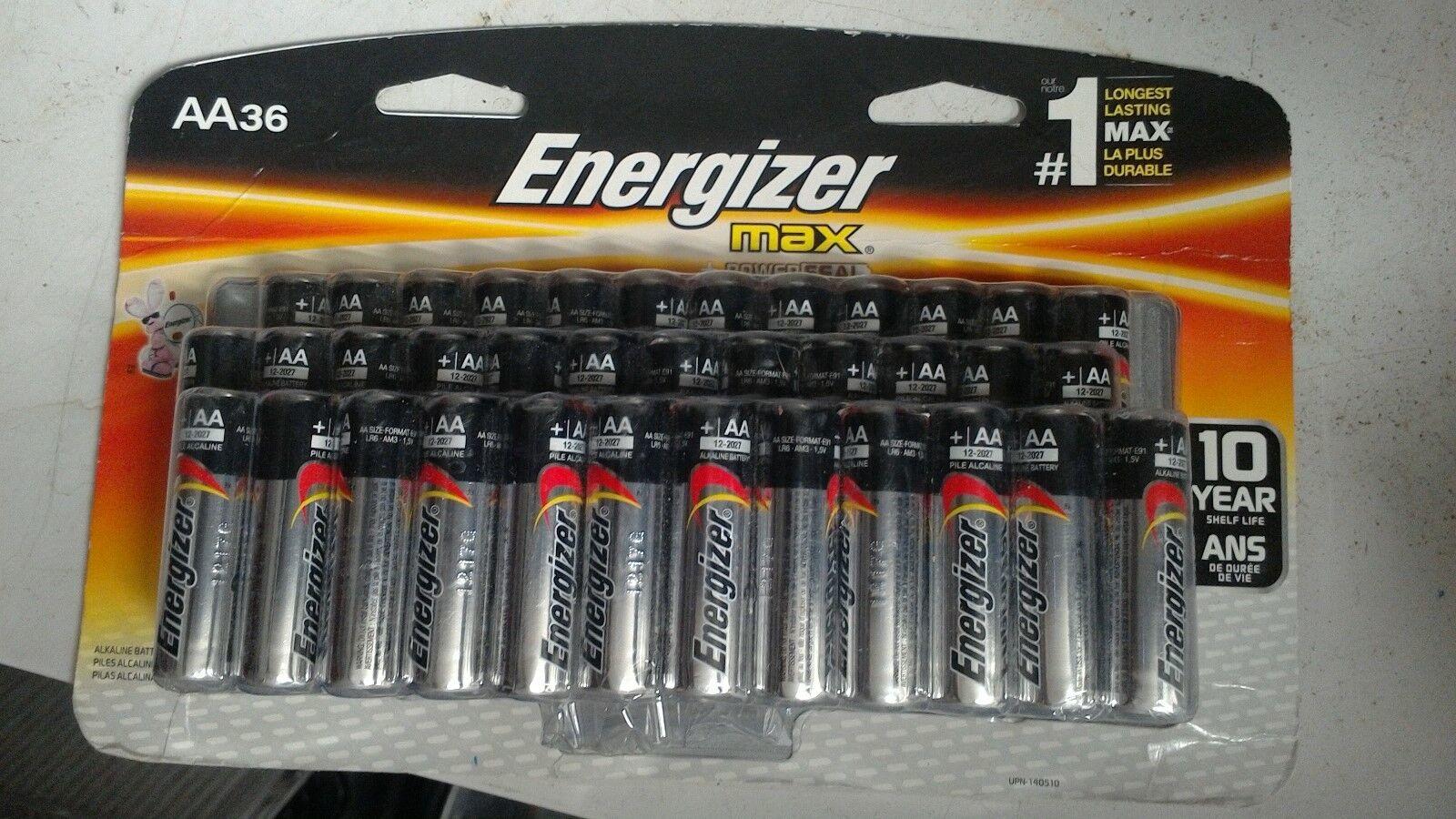 NEW AA Energizer MAX + Powerseal 36 Pack Alkaline Batteries