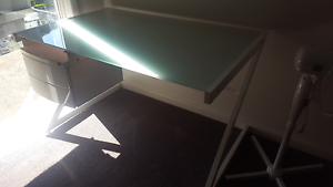 Metal desk with glass top Stawell Northern Grampians Preview