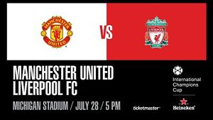 Manchester United vs Liverpool - 4 Tickets for July 28th