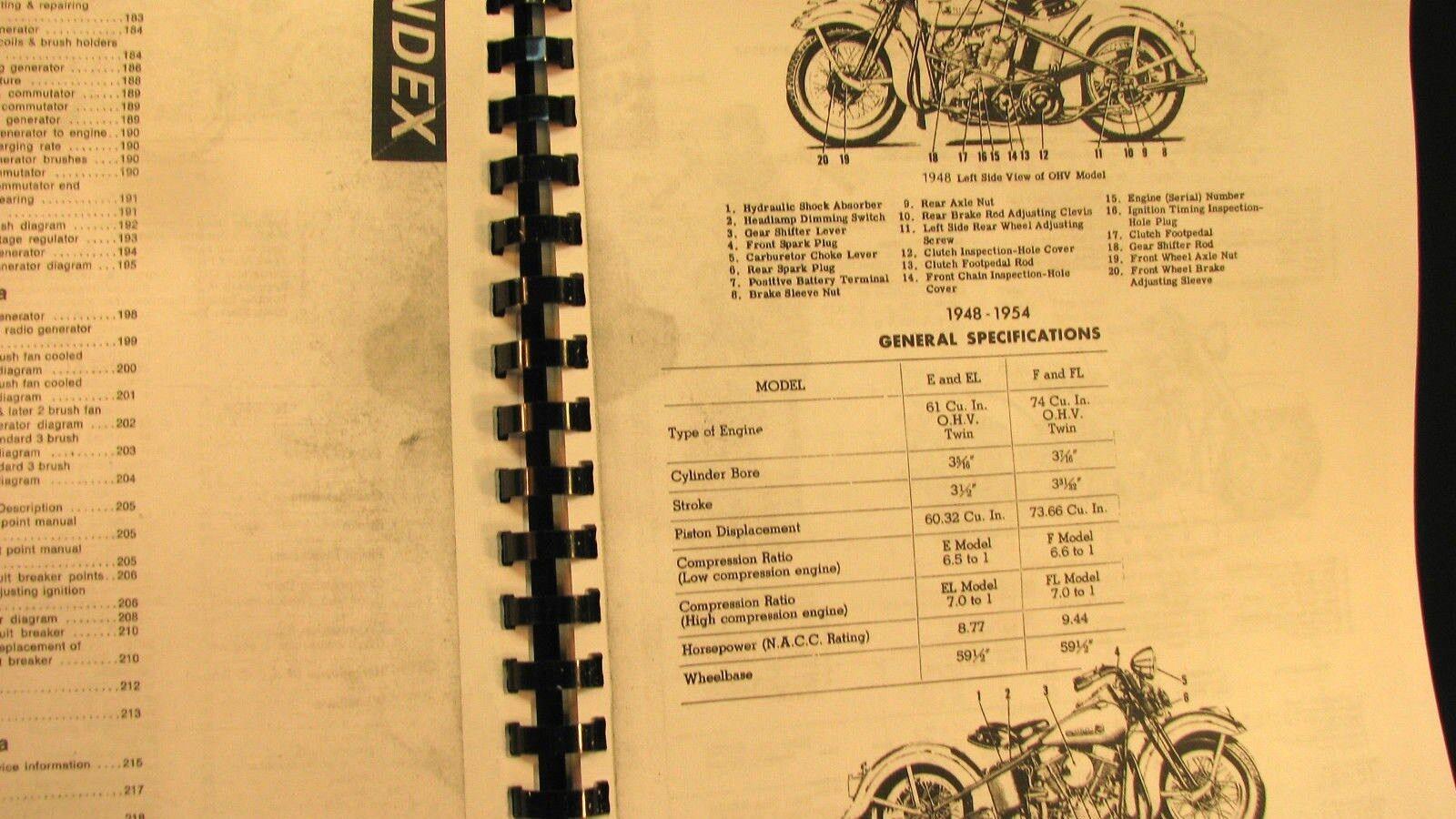 ... 1948-1957 Panhead Harley-Davidson Rigid Service Manual Fully  Illustrated Free Sh