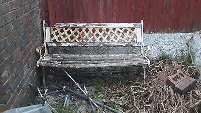 Vintage Garden Bench Metal Legs/Ends.