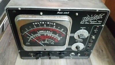 Vintage Hickok 209a Multimeter Ohmmeter Meter Vacuum Tube Tester