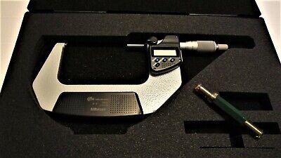 Mitutoyo 293-333-30 3-4 Digital Micrometer Ip65 .00005 Spc Ratchet Thimble