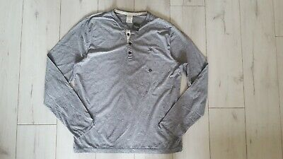 ABERCROMBIE & FITCH MEN'S HENLEY LONG SLEEVE T SHIRT (X-LARGE)
