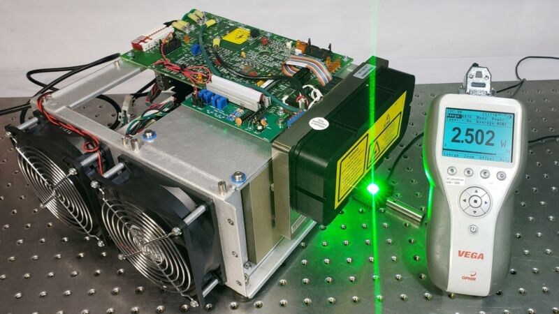 Wavelength Electronics Half Note 2.5W DPSS 532nm Green Laser w/ Driver+Interface