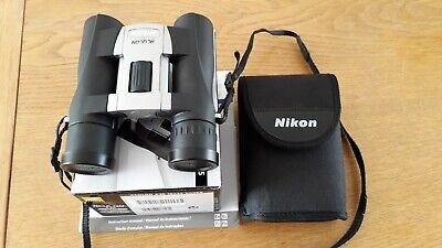 Nikon ACULON A30 10x25 Silver Binoculars. Used, Excellent Condition. 10yr G'Tee