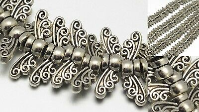 - Butterfly Angel Wing Beads Silver Fairy Dragonfly Jewelry Findings Supplies 14mm