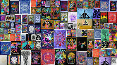 Indian Mandala Cotton Wall Hanging Bohemian Dorm Decor 3D  Tapestry Bohimean Art - Art Deco Walls