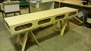 Work bench Portable  2400 L mm x 600 W mm x 215 H mm Light Weight Sunshine North Brimbank Area Preview