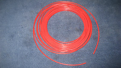 532 Pneumatic Polyethlene Tubing Push In Fittings Red10 Ft Pe2510-r