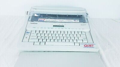Brother Ax-500 Word Processing Electric Portable Typewriter With Cover