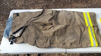 Globe Firefighter Turnouts Bunker Gear Structure Pants 32x34 Nfpa