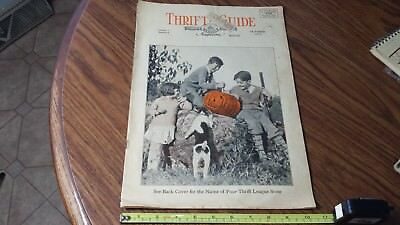 Rare Thrift League Store Guide Magazine1929 Volume 1 Number 8 Halloween Article](Thrift Store Halloween)