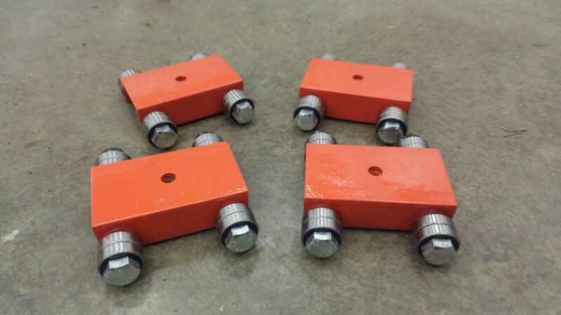 Machine Skate Set (4)  10,000lbs Made in USA Bridgeport mill mover,  low profile