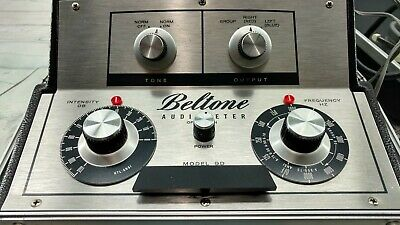 Vintage Beltone Model 9d Portable Audiometer Hearing Tester With Headphones