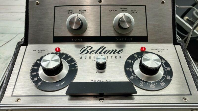 Vintage Beltone Model 9D Portable Audiometer Hearing Tester with Headphones