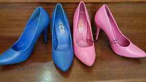 Ice Blue Pink Pointed Pump Heels Size 7 Springfield Ipswich City Preview