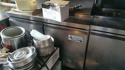Avantco Ss-pt-48-hc 48 2 Door Stainless Steel Refrigerated Sandwich Prep Table