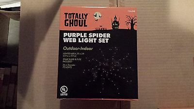Spider Web Lights (Totally Ghoul Purple Spider Web Light)
