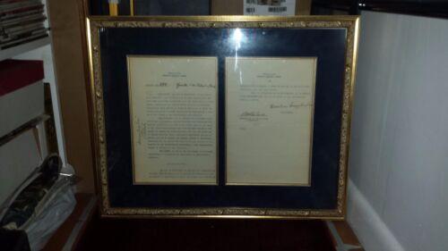 CUBAN President Carlos Mendieta 1934 Historical document CUBA documento