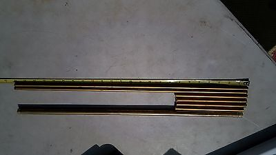 6gg78 Assorted Brass Tubes 14 Of Metal Good Condition