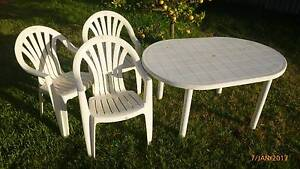 3 Outdoor Chairs with Table. Coolbellup Cockburn Area Preview