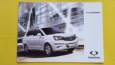 Ssangyong Turismo 2.2 EX SE Auto ELX marketing brochure catalogue 2016 MINT