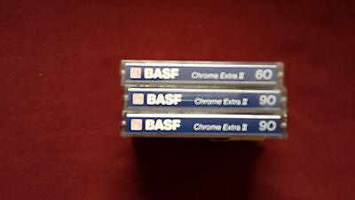 3 X Musik Cassetten Basf Crome Extra II   60- 90