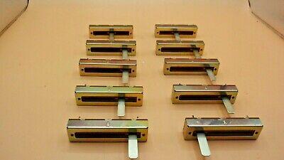 Dual 100k Ohm Slide Potentiometer Linear Taper Lot Of 10