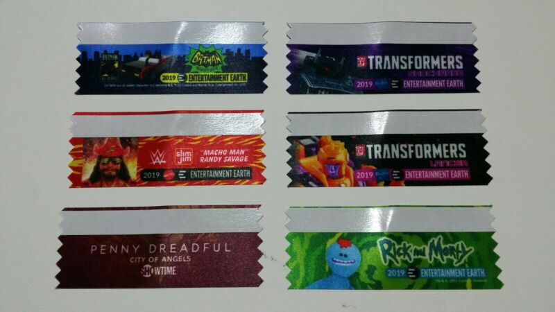 SDCC 2019 Entertainment Earth Exclusive Badge Ribbons Set of 6