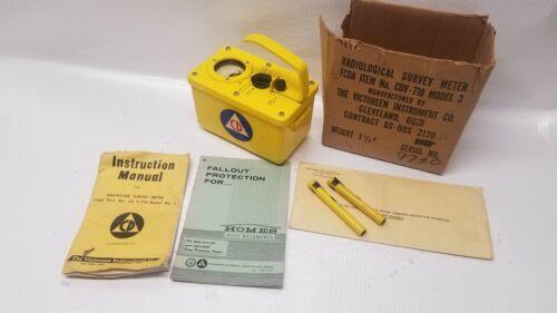 Victoreen CD V-710  Radiological Survey Meter Civil Defense Boise Idaho Ada