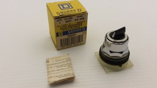 SQUARE D 9001KS-88B SELECTOR SWITCH 4-POS MAINTAINED SERIES H NIB