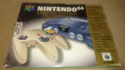 Nintendo N64 limited edition gold console in box