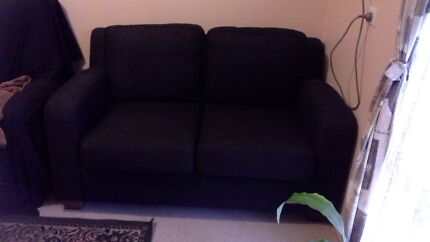2 x charcoal 2 seater chairs Cheltenham Charles Sturt Area Preview