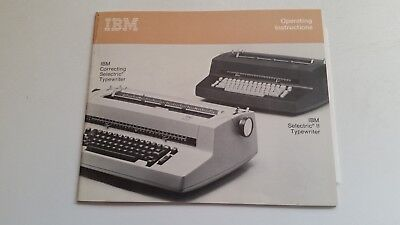 Ibm Selectric Ii Typewriter Part - Operators Manual Users Guide New