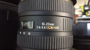 Lens Sigma wide angle canon 10-20mm 1:4-5.6 DC HSM