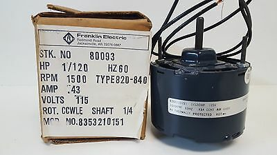 Nos Packard Franklin Electric Shade Pole Motor 80093 820-840 8353210151