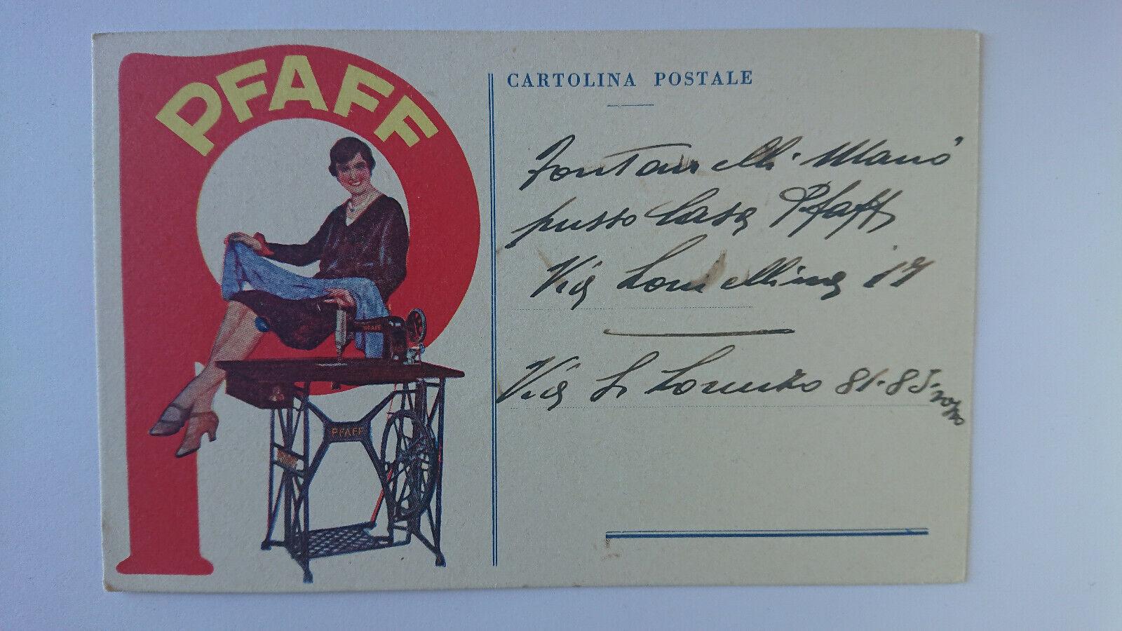 Cartolina Pubblicitaria Macchine Da Cucire Pfaff c17