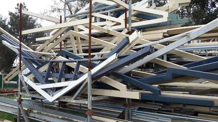 patio materials, trusses etc