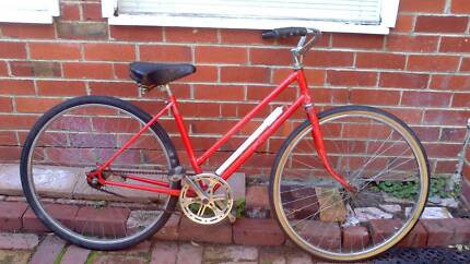 VINTAGE RED LADIES BICYCLE