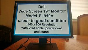 "Dell E1910C 19"" Widescreen Monitor"