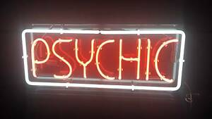 PSYCHIC neon sign large Chermside West Brisbane North East Preview
