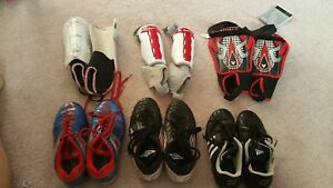 Soccer Cleats and Shin Pads