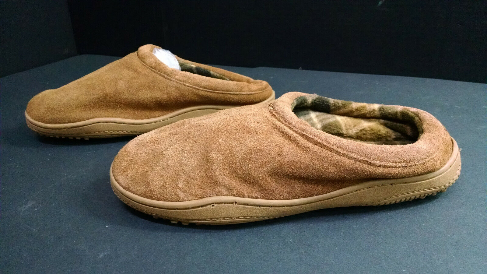 Chaps Men's Comfy House Slippers/Shoes/Slides, Brown, Size 9