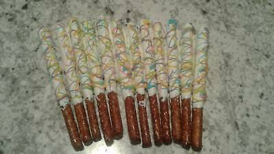 Chocolate covered pretzel rods/Easter candy/Decorative - Homemade Easter Candy